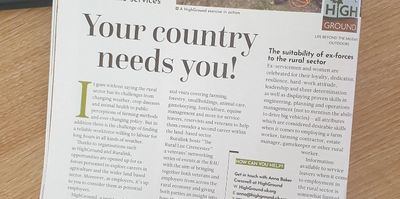 "Photograph of magazine article entitled ""Your country needs you"""