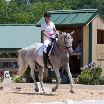 USDF/USEF Licensed dressage show in Maryland.