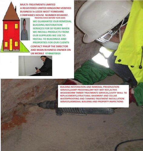 Multi-Treatments Limited Damp proofing installation systems making damp houses into dry homes