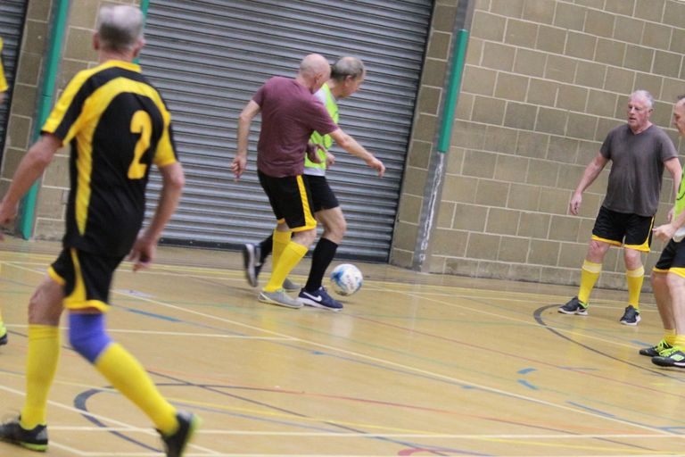A walking football session in Brighton