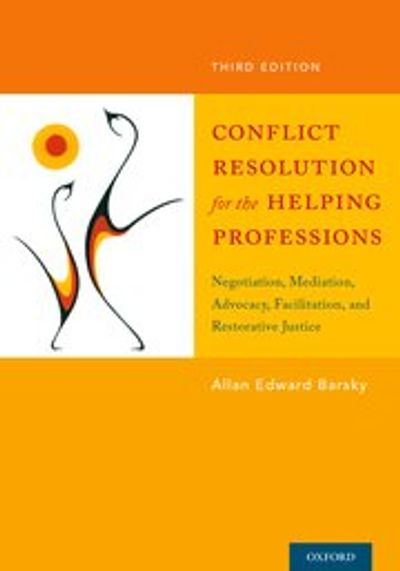 Conflict Resolution Textbook by Allan Barsky, published by Oxford University Press.