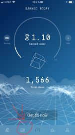 Sweatcoin Home Screen