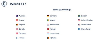 Where is Sweatcoin available? Here's the latest list of Sweatcoin countries.