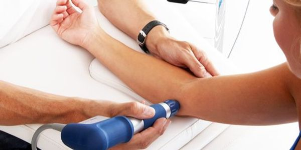 Shockwave therapy for elbow pain.