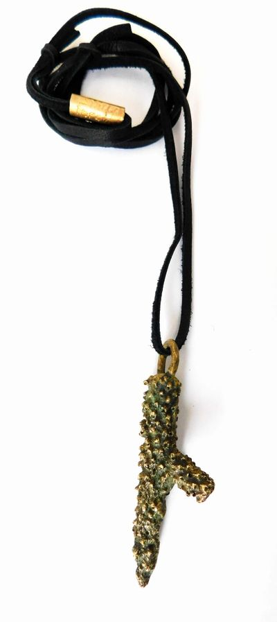 Staghorn Coral Pendant bronze coral necklace by artist Stacy Hopkins and Colleen Flanigan