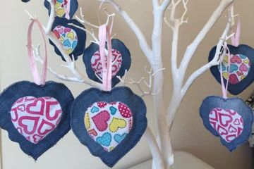 Heart-shaped decorations