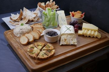 Office lunch cheeseboard