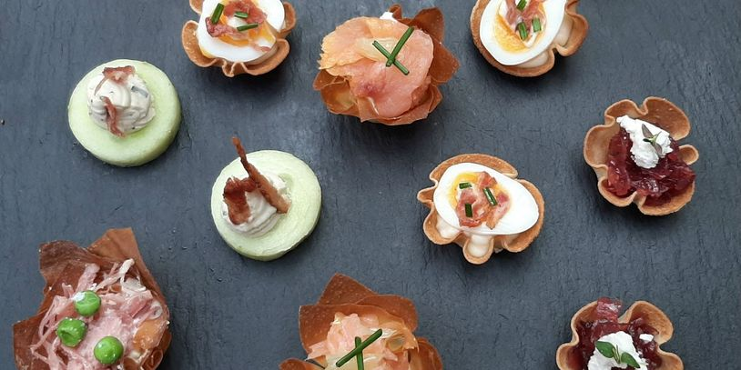 Freshly prepared Canapes for Parties Weddings and events Wiltshire Bath Gloucester Somerset Bristol
