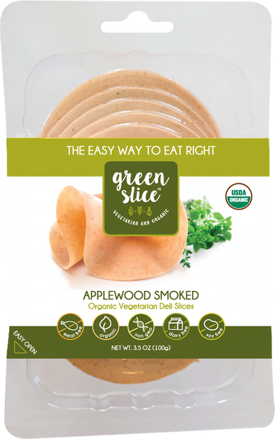 Green Slice Applewood Smoked organic meatless deli slices