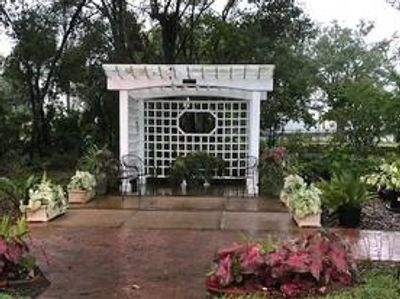 Our Garden Club's Gazebo offers a lovely setting for a picture of your wedding or party.