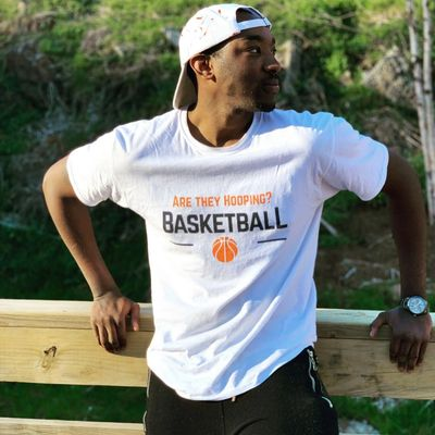 Our CEO Ron Jones Jr rocking our latest Are They Hooping (ATH) gear!