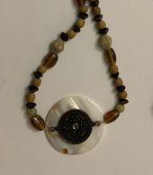 Original handmade beaded necklace, created by Berry Creative Arts