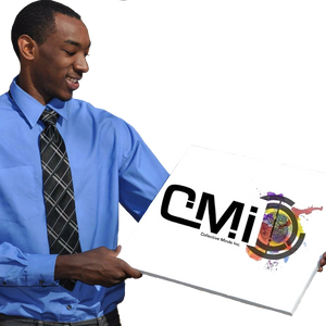 Ron Jones Jr displaying the first printed CMi logo in 2014