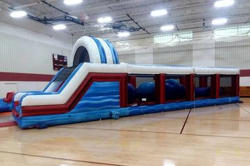 USA Warrior jump. extreme fun inflatables.