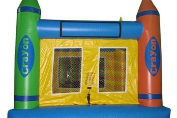 Shorter youth size 12x12 commercial bounce house Crayon youth size plain Bounce house