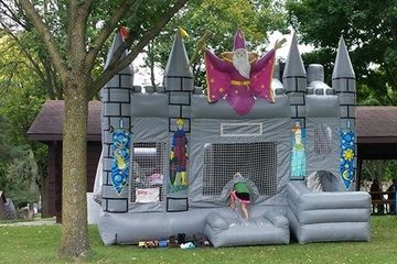 wizard Climb, Slide, and obstetrical plus  commercial bounce house  Wizard dry only combo