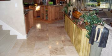 Travertine Floor Refinishing