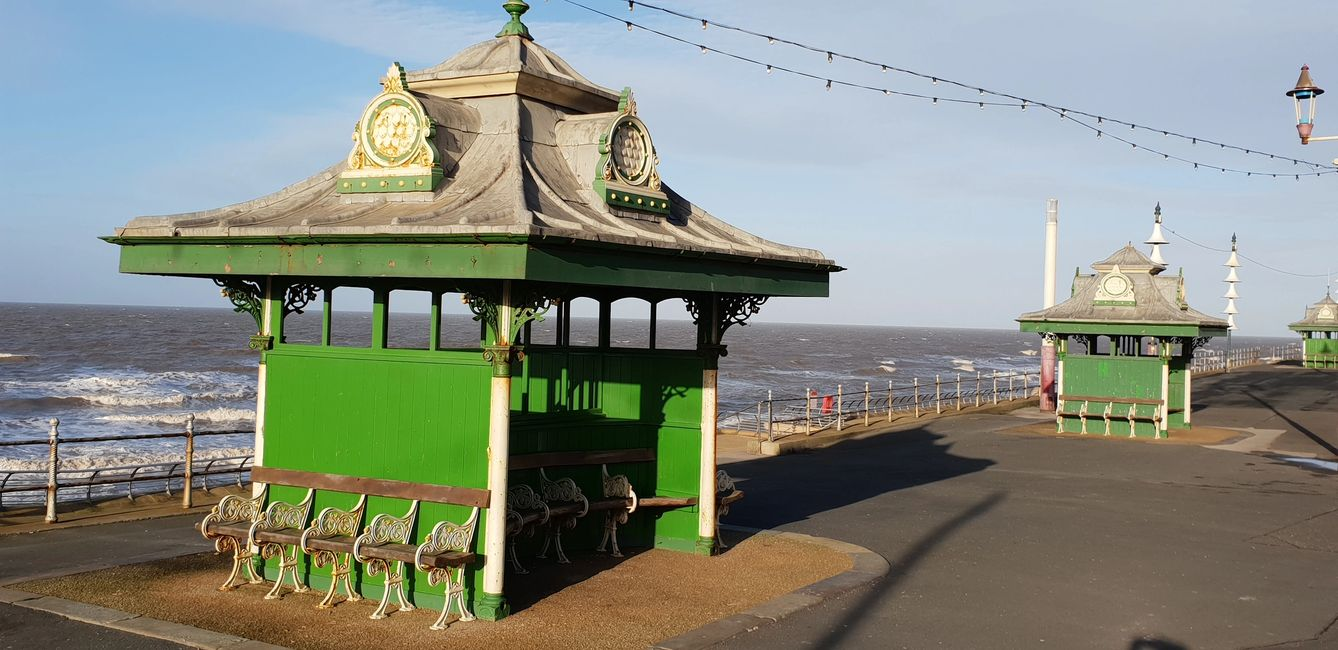 Historic Grade two listed, Promenade Shelters Blackpool FY1 England