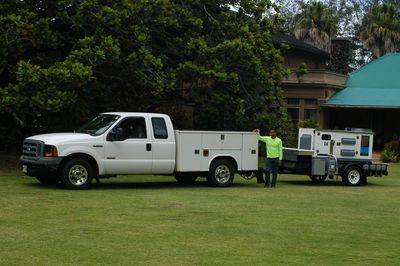 Generator with F250 Utility Truck