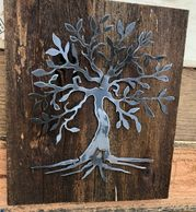 "I've now done my popular ""meditation tree"" in bare metal as well as the ever popular rusted version."