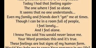 Prayer when Lonely