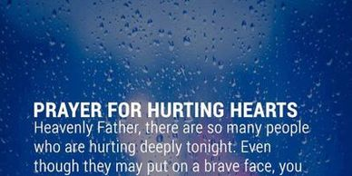Prayer for hurting Hearts