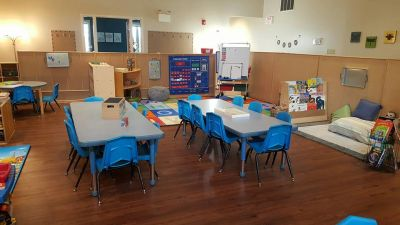 Warm and welcoming classrooms with soft lighting make our learning environments cozy and comfortable
