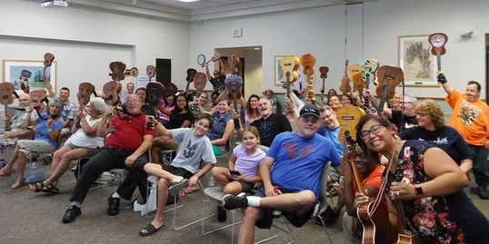 South Tampa Ukulele Jam, a Rock Themed Uke Jam by Reenee and The Rollers, aka The Mungos