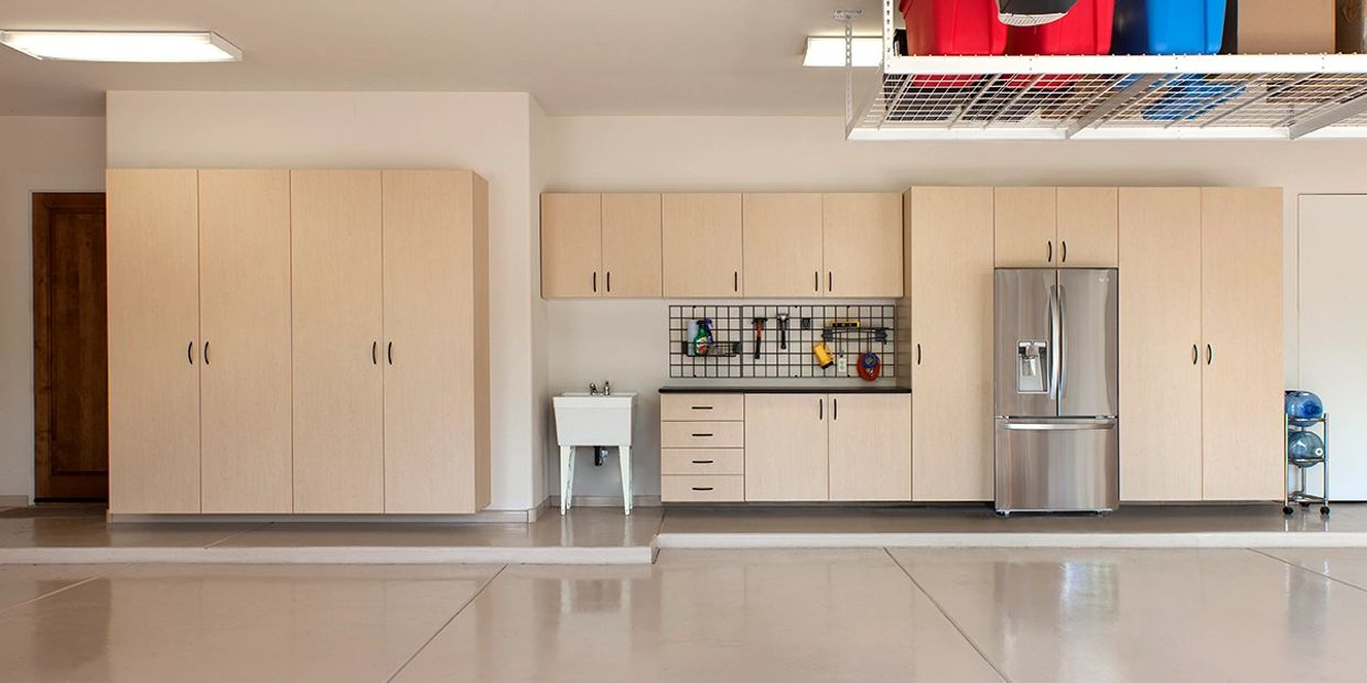 Maple Thermally Fused Laminate Cabinets