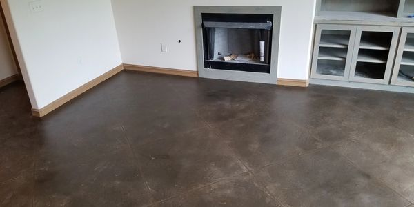 interior stained floors, concrete floors, overlay floors tulsa