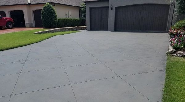 stained driveway, resurfaced driveways, Tulsa, stain repair,