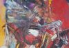 Stallion Rearing - Oil on Canvas - 84in x 48in