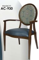 faux wood chair, nursing home furniture , dining chair