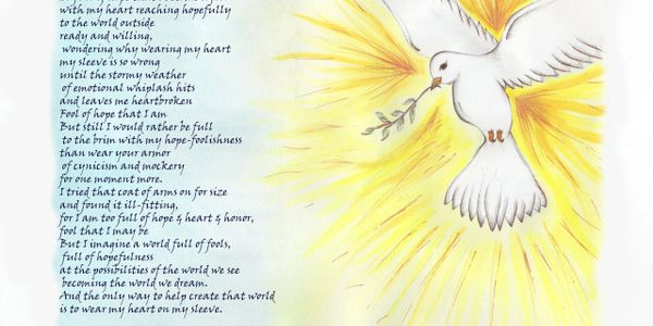 Dove of Peace with Poem about Hope