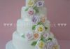 Cascade of roses wedding cake from £375( 3 tier ) £450 4 tier