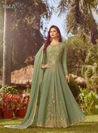 INDIAN PAKISTANI ANARKALI DRESS  SALWAR KAMEEZ SUIT PLUS SIZE