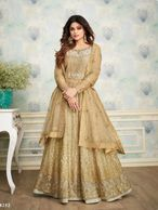 ETHNIC INDIAN ANARKALI SUIT ASIAN LONG DRESS SIZES FROM SMALL TO XXL