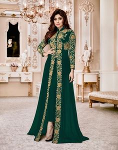 SEMI STITCHED UNSTITCHED DESIGNER ANARKALI SUITS TRADITIONAL LONG INDIAN SALWAR SUIT