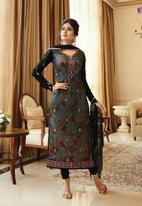 INDIAN PAKISTANI SEMI-STITCHED SHALWAR KAMEEZ DRESS  ASIAN SALWAR DRESSES IN UK