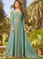 INDIAN TRADITION LONG DRESS- ANARKALI SUIT IN PLUS SIZE - S - XXL