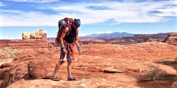 Backpacking in The Needles District,  Canyonlands National Park, Utah