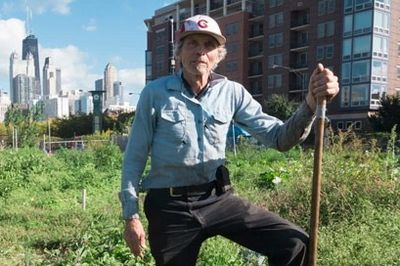 Ken Dunn, Founder of Resource Center at work at City Farm (550 W Division)