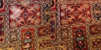Click here for photos and information on our repairs to carpets & rugs damaged by moths