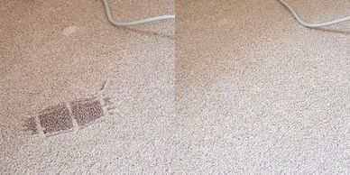 Click here for photos and information on our repairs to carpets & rugs damaged by