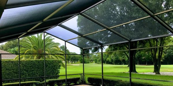 pool cage painting; pool enclosure painting; paint; painted; painters; rescreening; rescreen; screen
