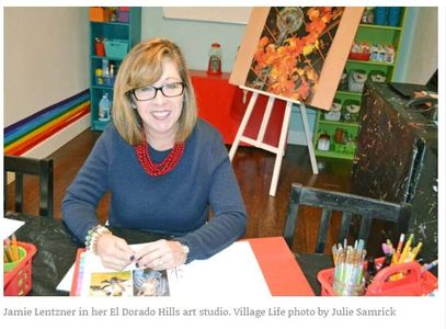Jamie Lentzner and The Color Wheel Art Curriculum featured in the Village Life, January 2019.