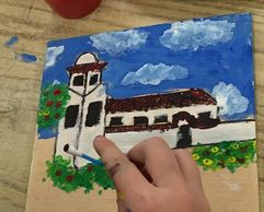 Fourth graders will learn about the California Missions and create their own mission on wood.