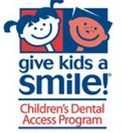 give kids a smile children's dental access program logo with a picture of boy and girl