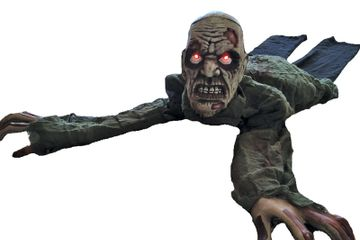 crawling zombie animated prop halloween decoration