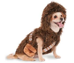 Star Wars Chewbacca costume for dogs or other pets, furry hooded suit.